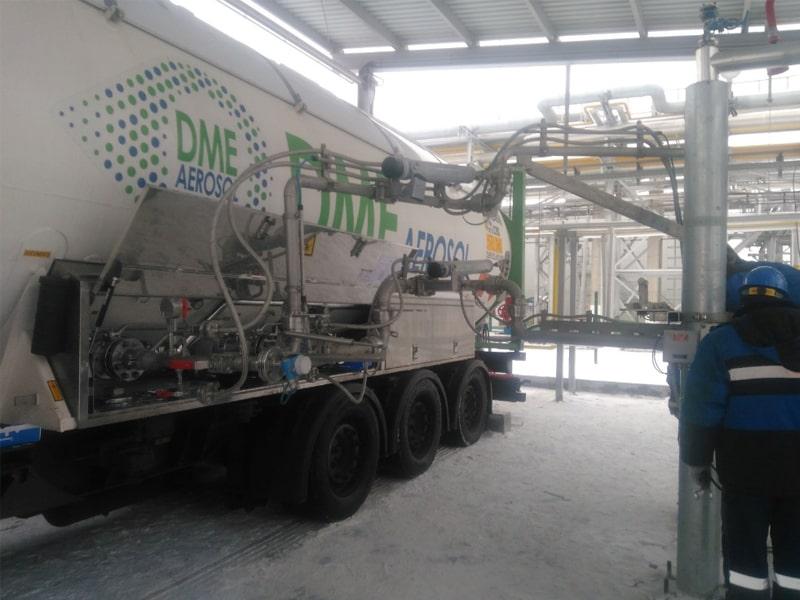 Lieferung von Dimethylether in eigenen Tankcontainern